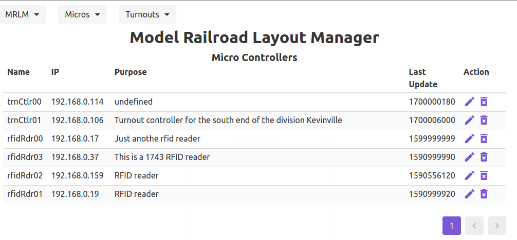 MRLM Micro Controller List